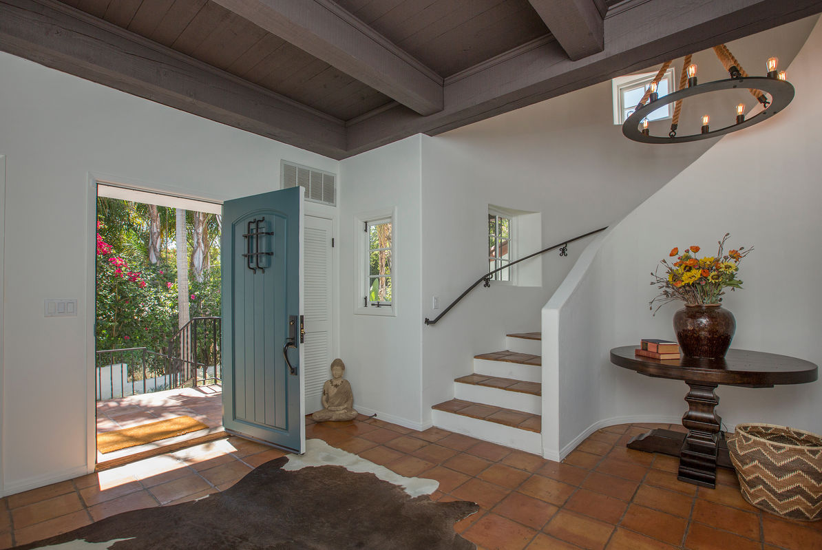 An inviting foyer