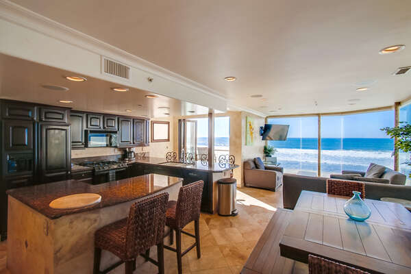Ocean views from Dining table!