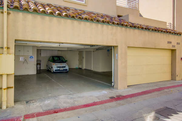 Garage parking (2 spaces- tandem)