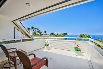 Master Bedroom Lanai with Great Ocean Views