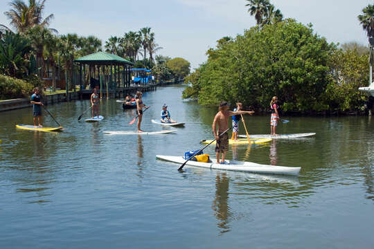 Paddleboarding and kayaking, just two of many adventure tours available.