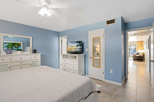 Relax and get a good night's sleep in the master bedroom.
