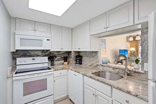 Enjoy cooking in this fully stocked kitchen.