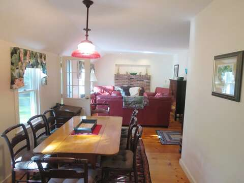 The dining table seats 8 comfortably - 19 Old Cart Way Chatham Cape Cod New England Vacation Rentals