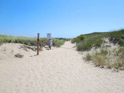 Harding's Beach dune walk located off of the 2nd parking lot. Less than half a mile from the house! - Chatham Cape Cod New England Vacation Rentals