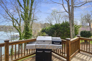 Grill on the home deck.