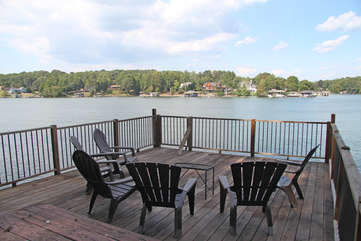 Chairs on the dock.