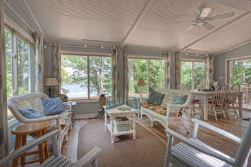 Sitting Area Overlooking Lake