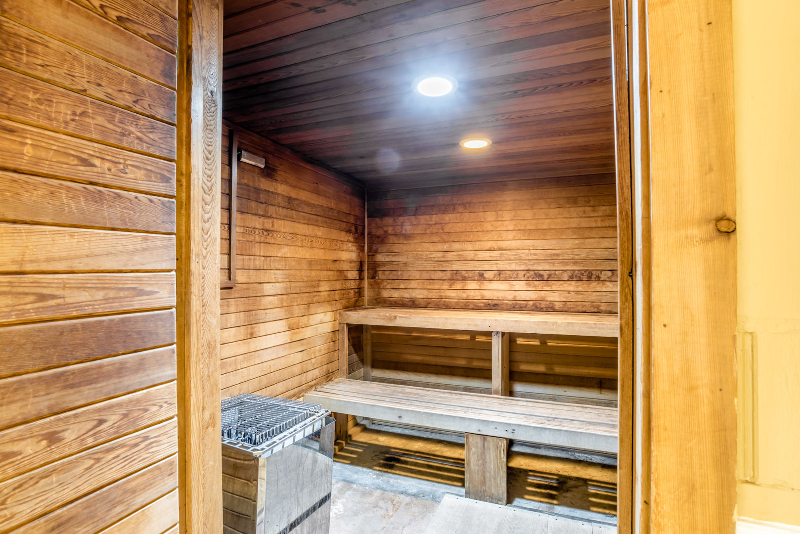Relax In The Sauna of this Fort Morgan Beach Rental.