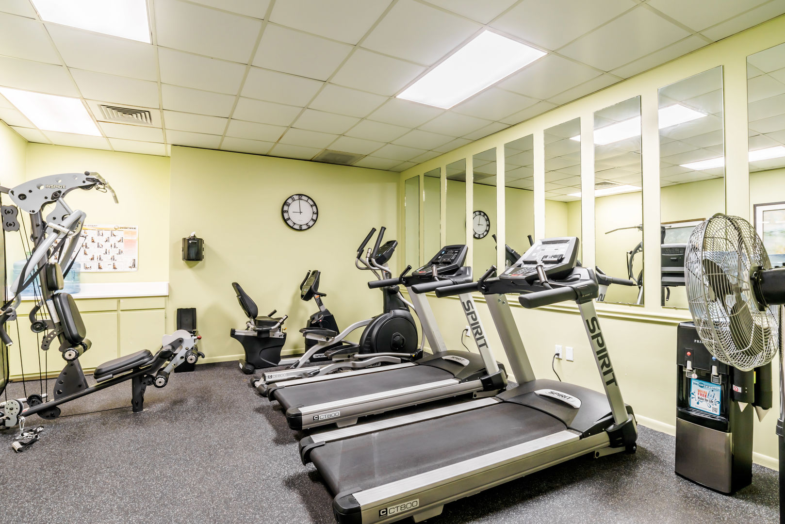 Enjoy A Fully Equipped Fitness Center at the nearby community center.