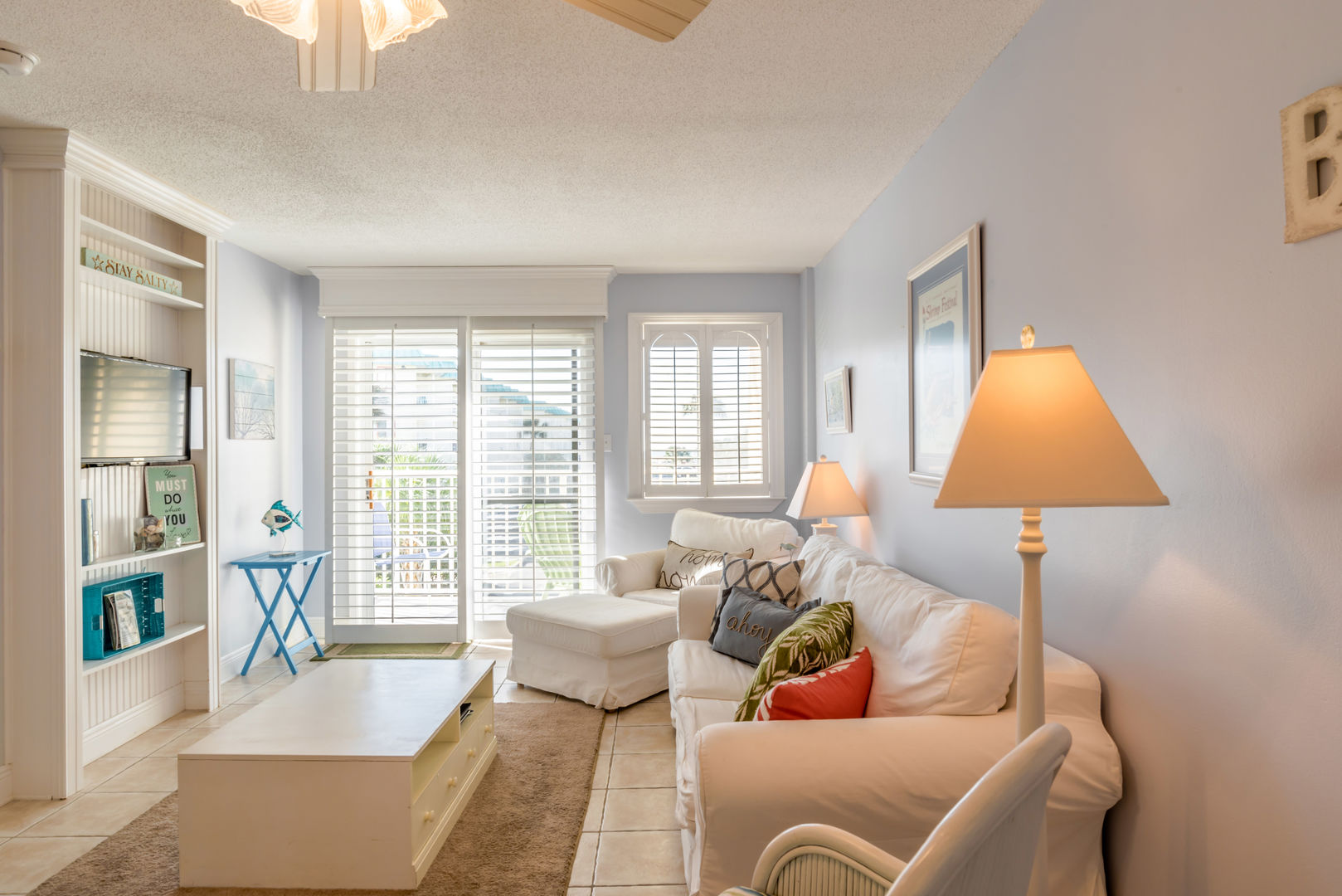 This Fort Morgan Beach Rental Is Tastefully Decorated.