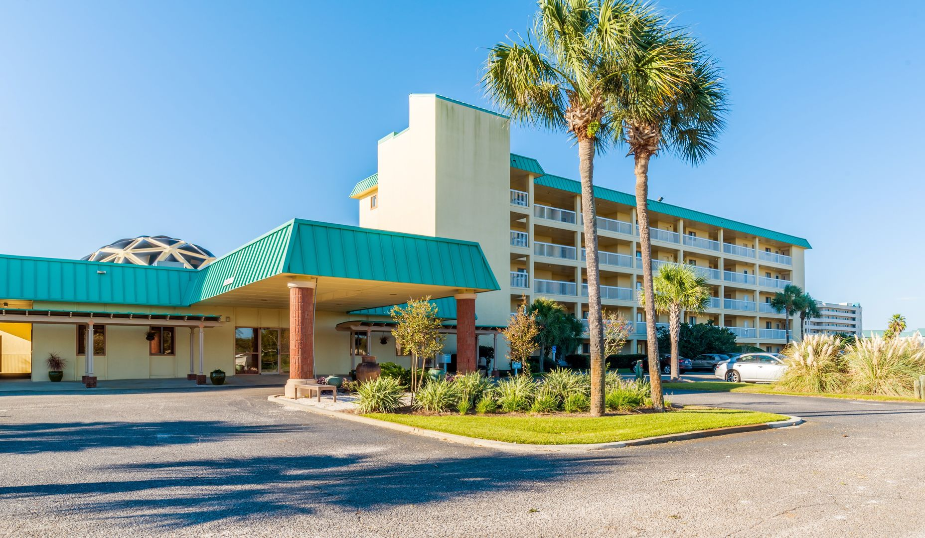 Welcome To Aqua Viva; picture of the exterior of this Fort Morgan Beach Rental!