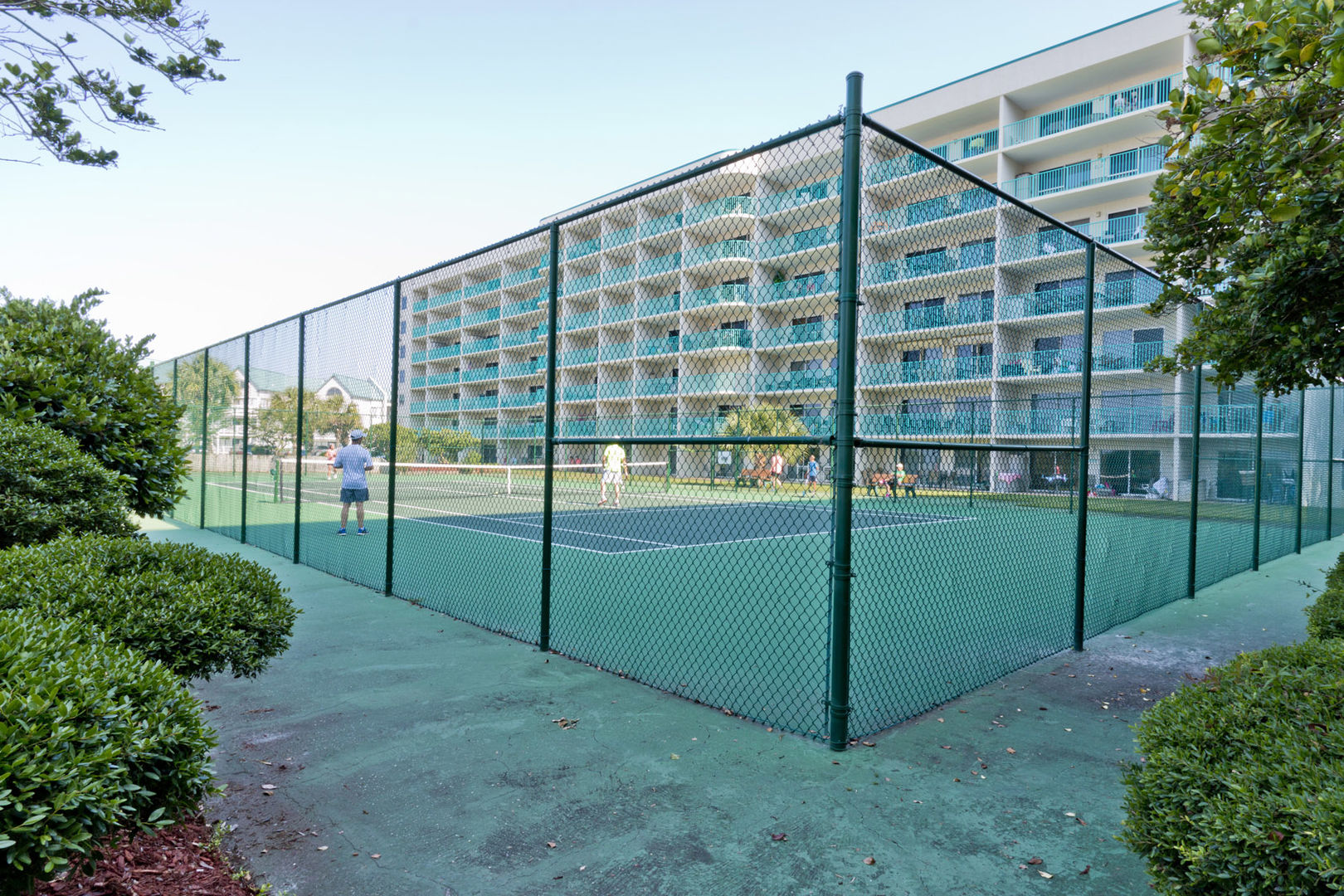 Tennis court at the Plantation.