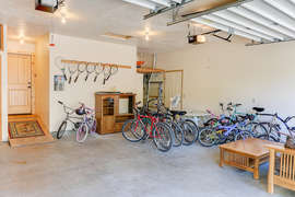 Garage with bikes for all and a sauna! (to the left of the door into the house)