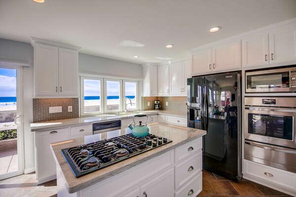 Kitchen with gas rangetop
