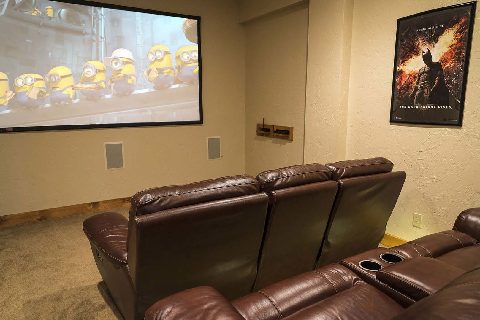Theater room on lower level