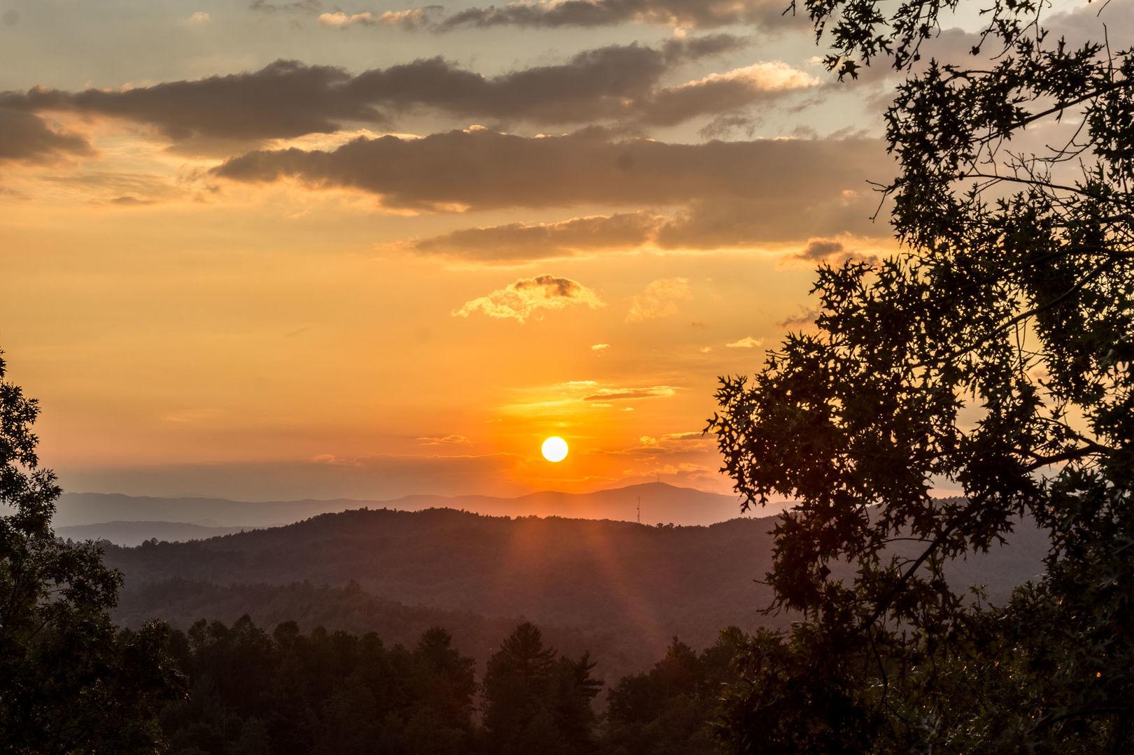 Beautiful mountain sunset!