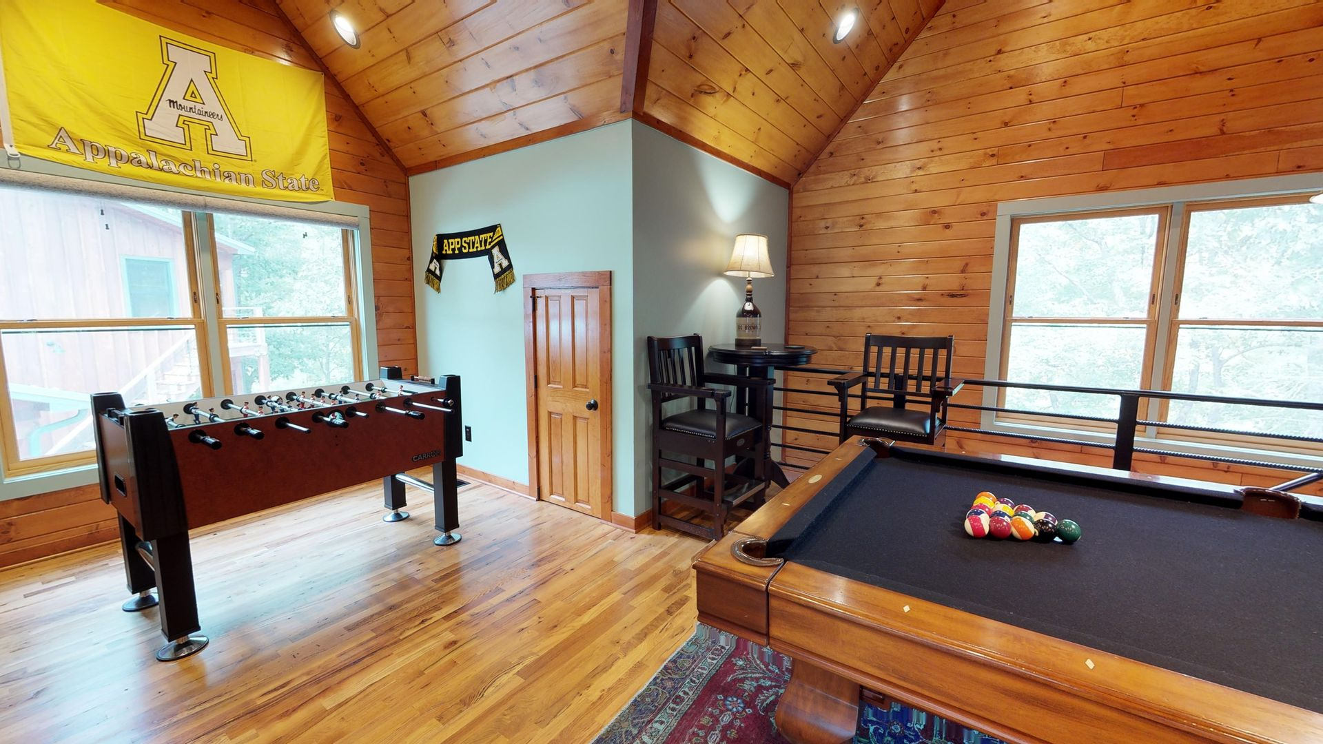 Large game room above the 2 car garage