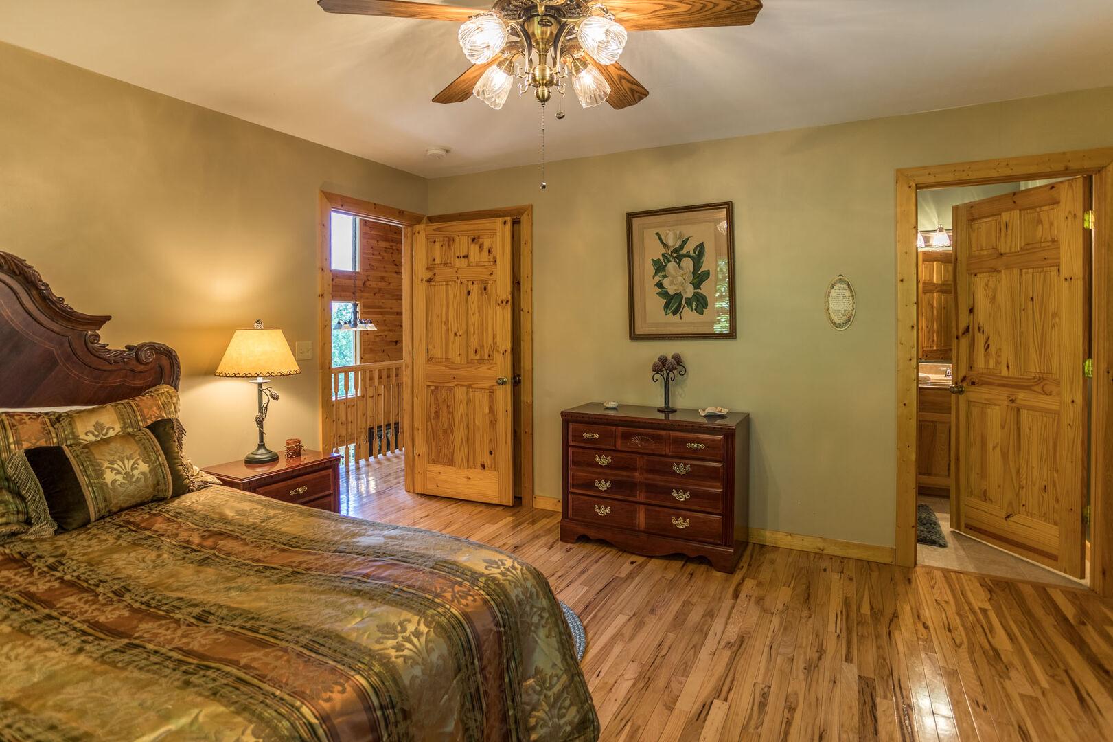 Second bedroom has a full bath