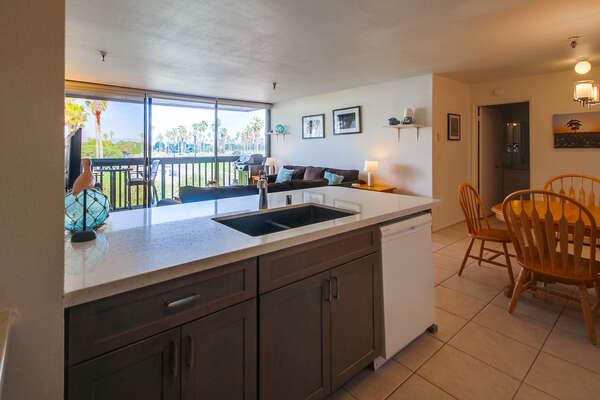 Remodeled kitchen with a view!