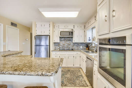 Reel Me In - kitchen with plenty of cabinets