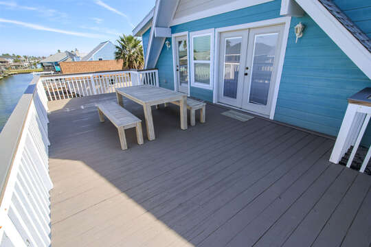 Reel Me In - upper-level balcony with access from master bedroom & 2nd living area