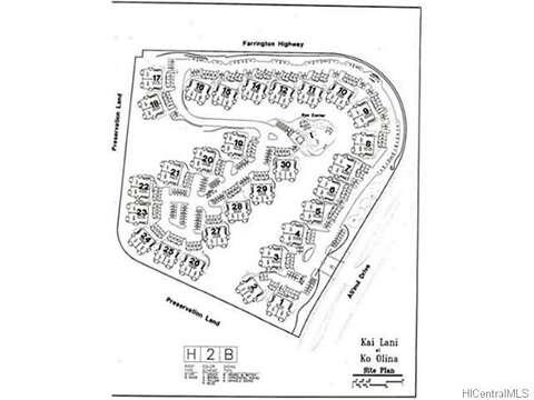 Map of the Kai Lani Condo Community