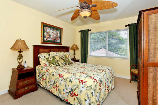 Spacious Second Bedroom with TV in our Oahu Vacation Rental
