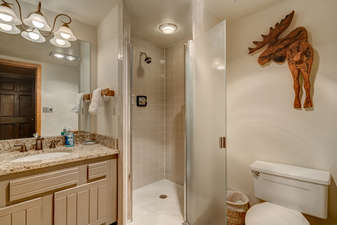 The 3rd Bathroom is next to Bedroom 3, but accessible from the hallway