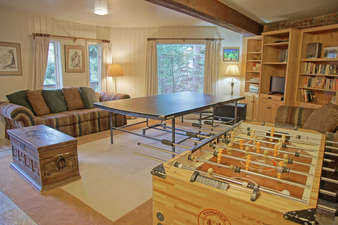 Lower Living Room with Foos Ball and Ping Pong