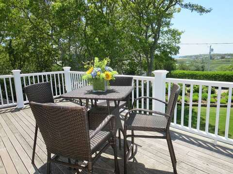 2nd Floor deck with access from both 2nd floor bedrooms! - 24 Sea Mist Lane Chatham Cape Cod New England Vacation Rentals