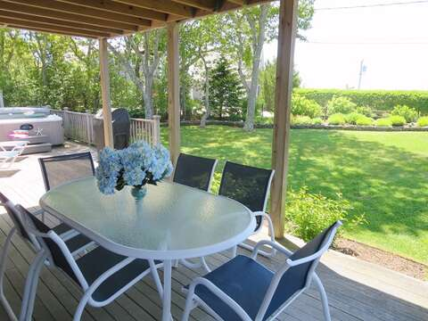 Plenty of outdoor furnishings and a gas grill - 24 Sea Mist Lane Chatham Cape Cod New England Vacation Rentals
