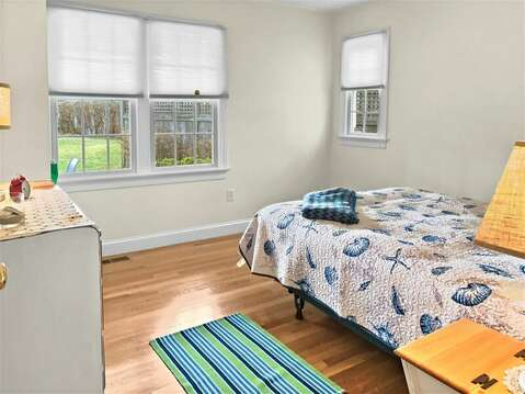 1st floor bedroom with a queen bed - 24 Sea Mist Lane Chatham Cape Cod New England Vacation Rentals