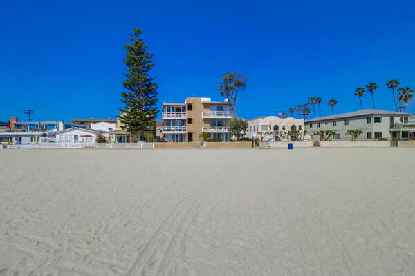 Picture of our Rental from the Beach.