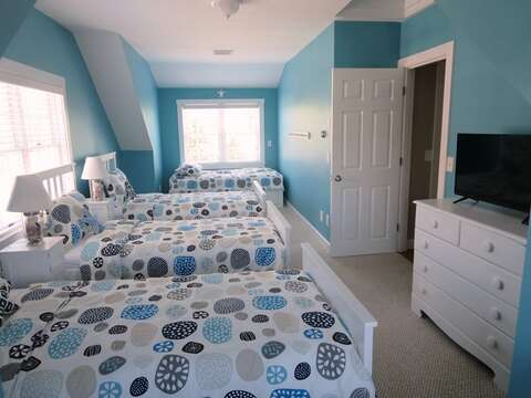 Bedroom # 3 has sleeping for 4- perfect for the kids!! -(3 twins beds and a day bed) 5 Sea Breeze Avenue Harwich Port Cape Cod - New England Vacation Rentals