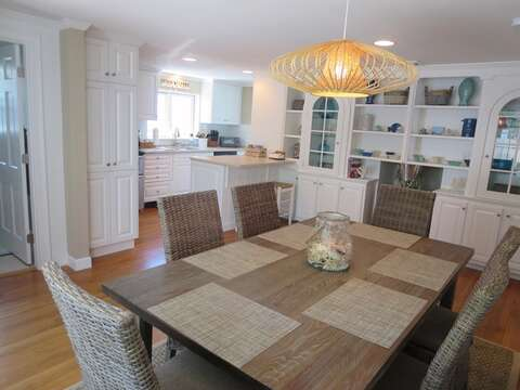 Dining room looking toward kitchen- 5 Sea Breeze Avenue Harwich Port Cape Cod - New England Vacation Rentals