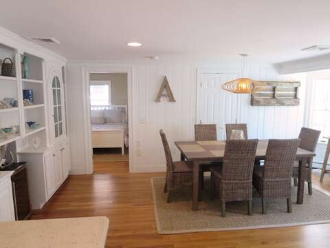 View from Kitchen to Dining room -straight ahead is the master bedroom- 5 Sea Breeze Avenue Harwich Port Cape Cod - New England Vacation Rentals