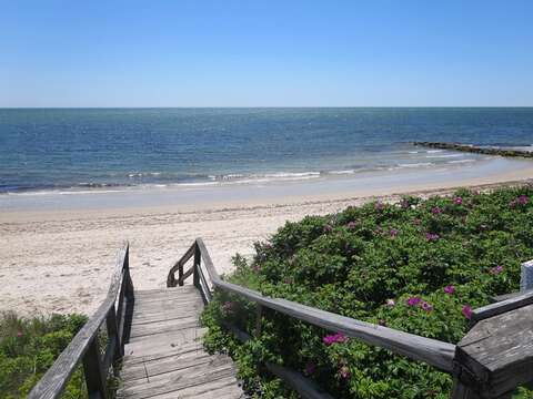 Wyndemere Bluffs Beach- sandy shores with warmer water and gentle waves!- 5 Sea Breeze Avenue Harwich Port Cape Cod - New England Vacation Rentals