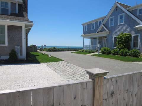 view to the water from the driveway-5 Sea Breeze Avenue Harwich Port Cape Cod - New England Vacation Rentals