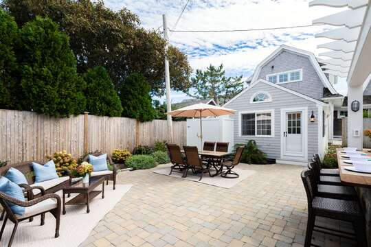 Plenty of outdoor seating areas to take in the Cape Cod experience!- 5 Sea Breeze Avenue Harwich Port Cape Cod - New England Vacation Rentals