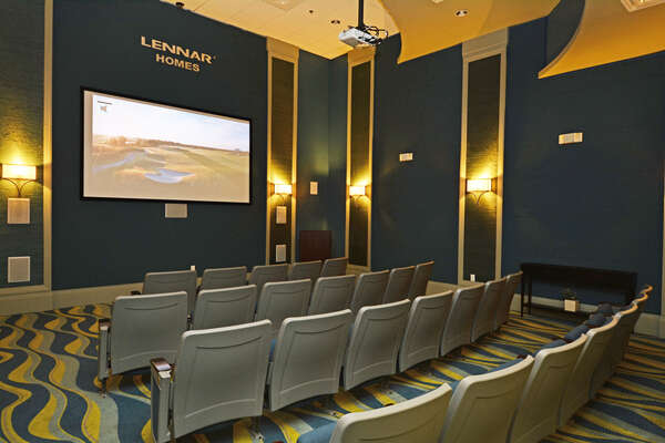 On-site facilities: Movie theater
