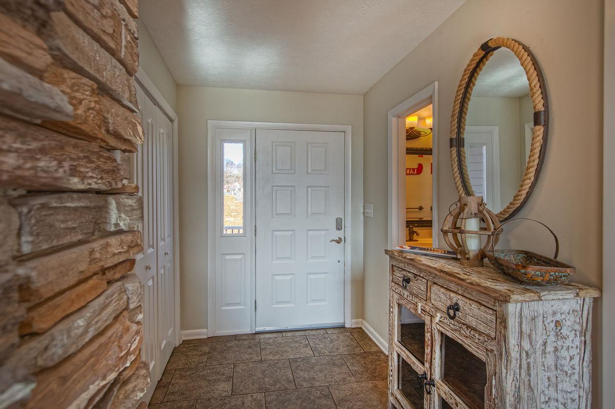 Entryway with Hall Bath