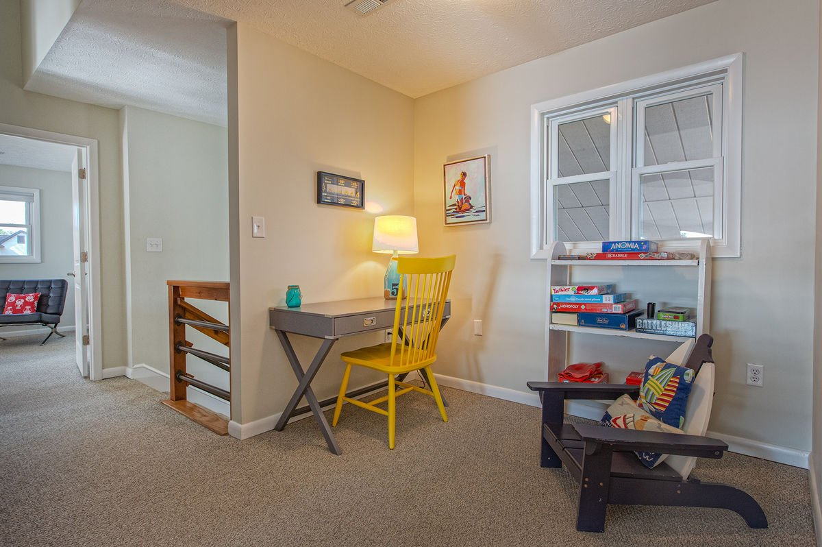 Nook with Writing Desk, Games, and Chair