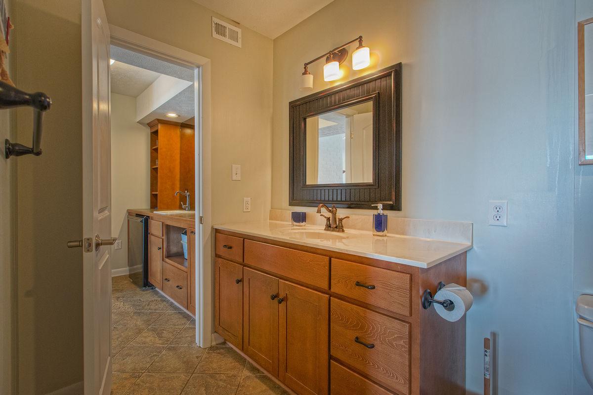 Single Vanity Bathroom Downstairs