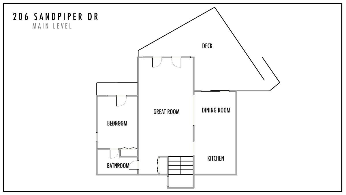 206 Sandpiper Dr Main Level Floor Plan
