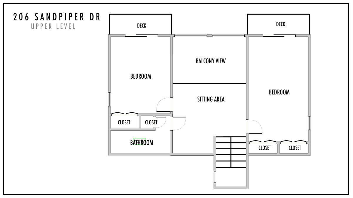 206 Sandpiper Dr Upper Level Floor Plan