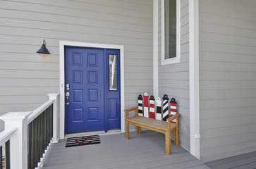 Front Door and Bench