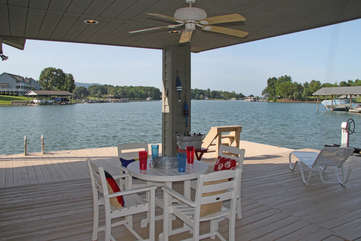 Covered Patio Seating at the Boathouse