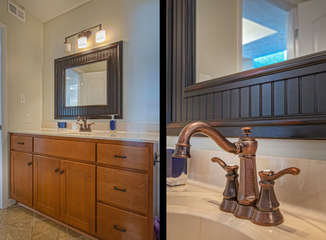 Single Vanity with Bronze Faucet