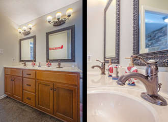 Two Images of the Full Bath Double Vanity